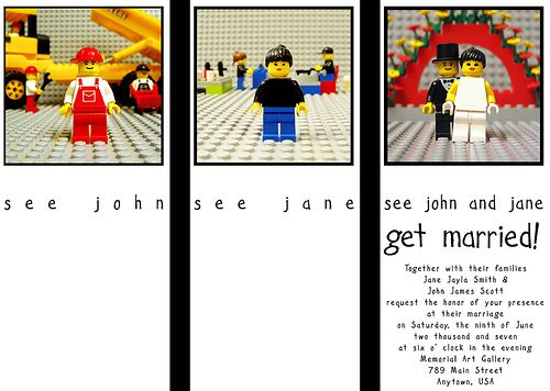 Lego Wedding - invitation