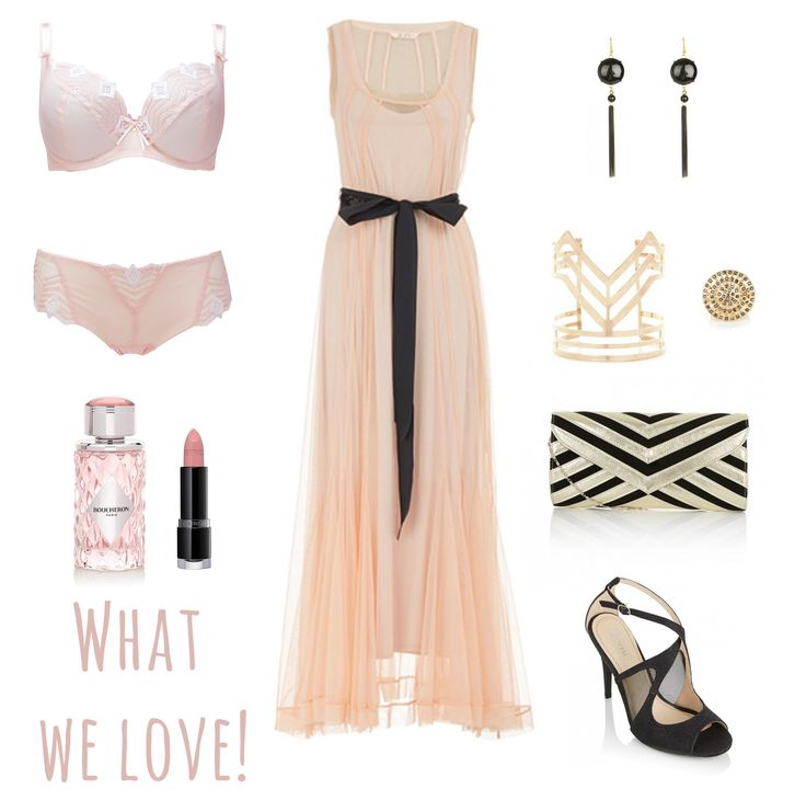 Ooh La La Bra with this gorgeous evening dress makes me want to find a party