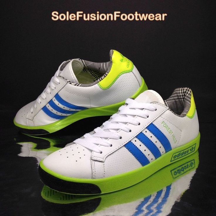 adidas Originals Mens Forest Hills Trainers White/Blue sz 8 Sneaker US 8.5 EU 42 | eBay