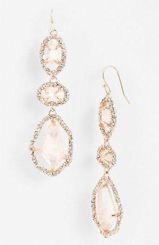 blush rose gold earrings!