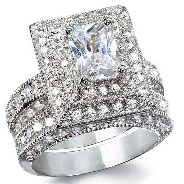 34 best Diamond Wedding Rings images on Pinterest Diamond