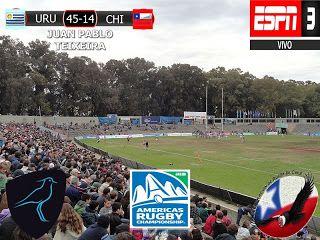 America Rugby Championship 2017 5º Fecha: Uruguay 45-14 Chile
