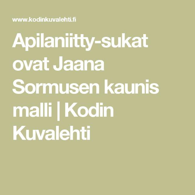 Apilaniitty-sukat ovat Jaana Sormusen kaunis malli   Kodin Kuvalehti