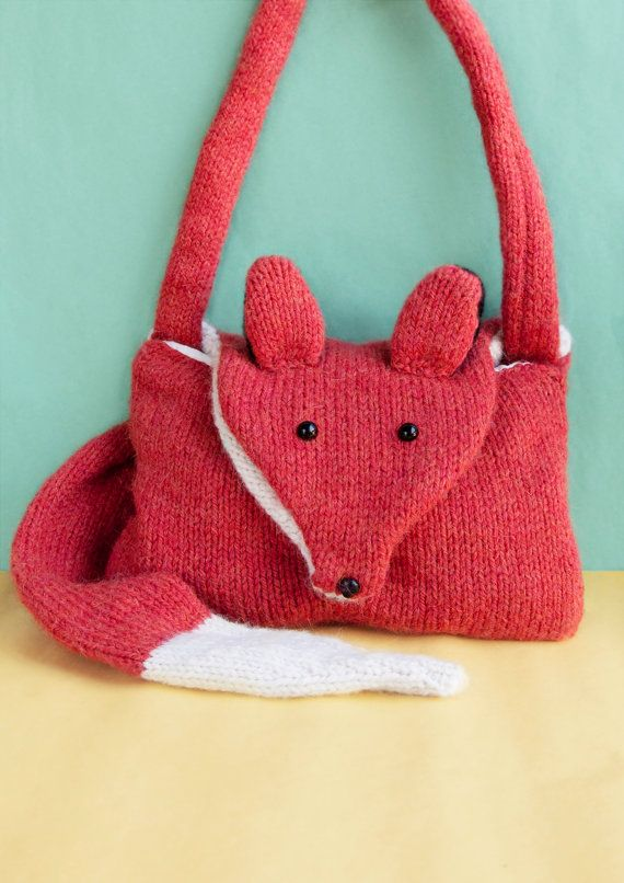 Fantastic Fox Bag *KNITTING PATTERN* Aran Handbag with detachable tail as seen in Crafty Mag