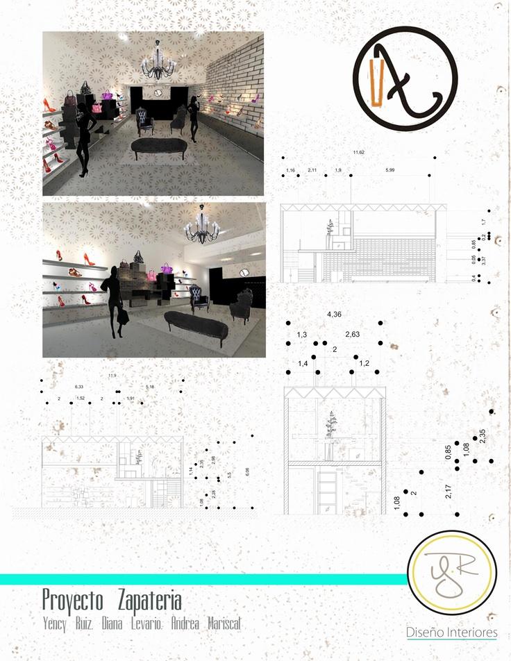 diseño interior zapateria