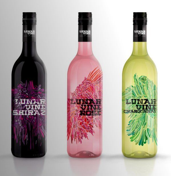 enamel: Bottle Labels, Wine Labels, Wine Design, Packaging Design, Lunar Vines, Wine Bottle, Products Design, Bottle Design, Labels Design