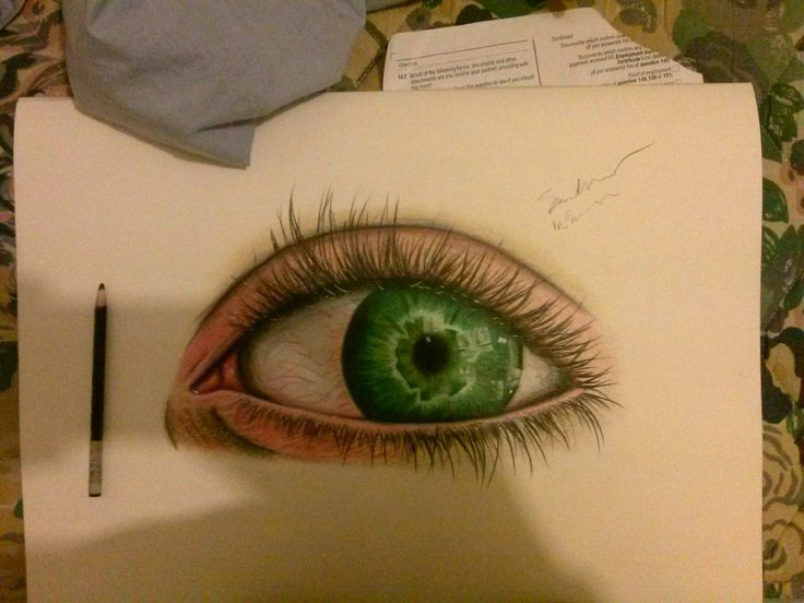my first attempt of to create a realistic eye in colour