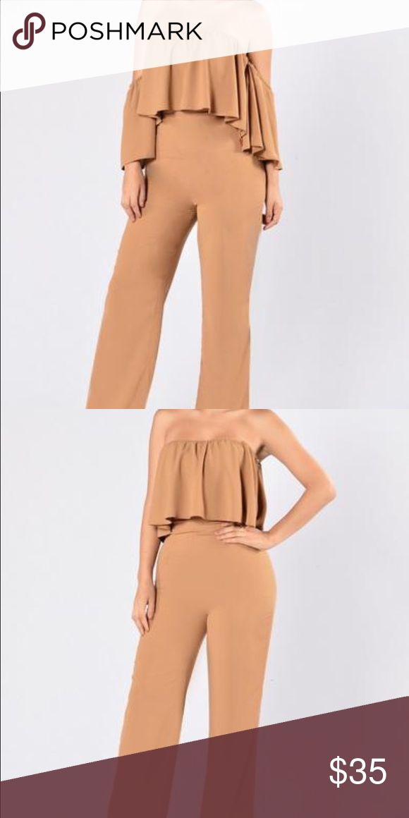 Camel jumpsuit New. Can be used two different ways. Pants Jumpsuits & Rompers