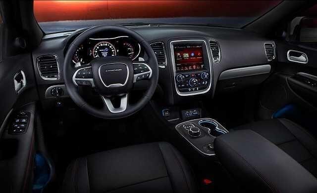 2017 Dodge Durango interior, gear shift knob and lcd screen
