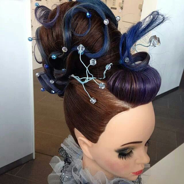 creative updo competition hair