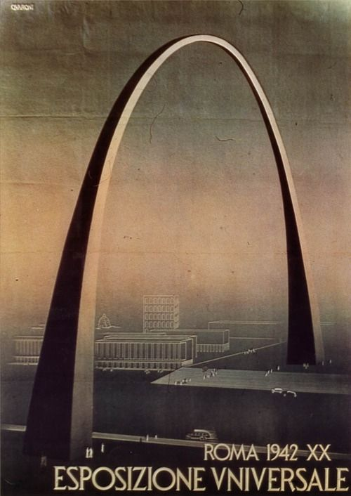 The arch that Adalberto Libera designed (but that wasnt built) for the EUR neighbourhood in Rome.