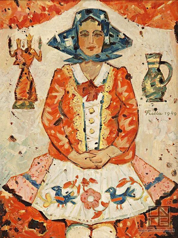 L.Fulla-Slovak painter and illustrator, (February 27, 1902, Ružomberok – April 21, 1980, Bratislava)