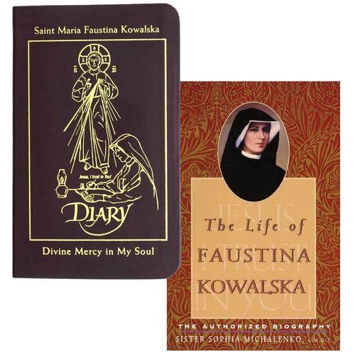 Diary of Saint Maria Faustina Kowalska: Divine Mercy in My Soul & The Life of Faustina Kowalska (2 Book Set)