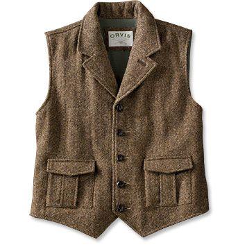 Button Front Wool Vest / Murphy's Pub Vest -- Orvis