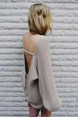 backless knits.