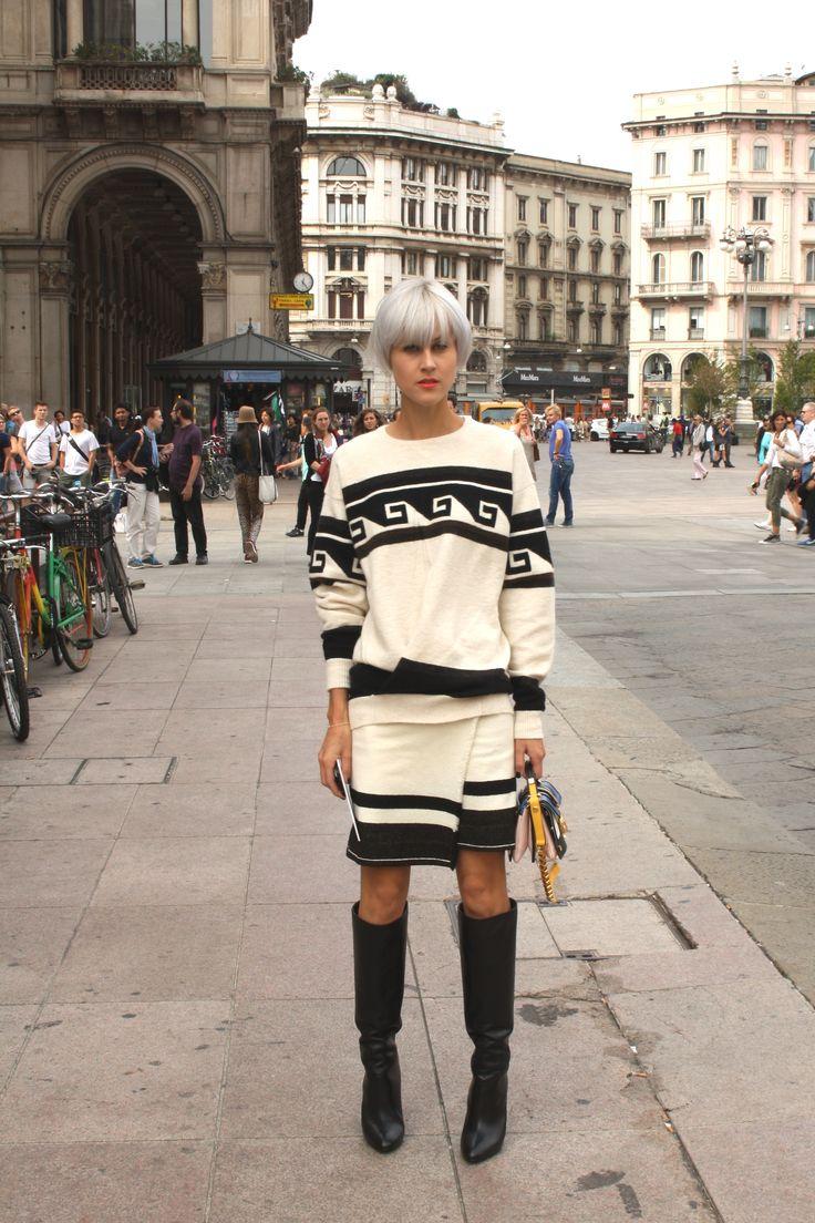 Milan Female Fashion Week SS15 - people @ Stella Jean show #mfw #milanfashionweek #stellajean #outfitideas