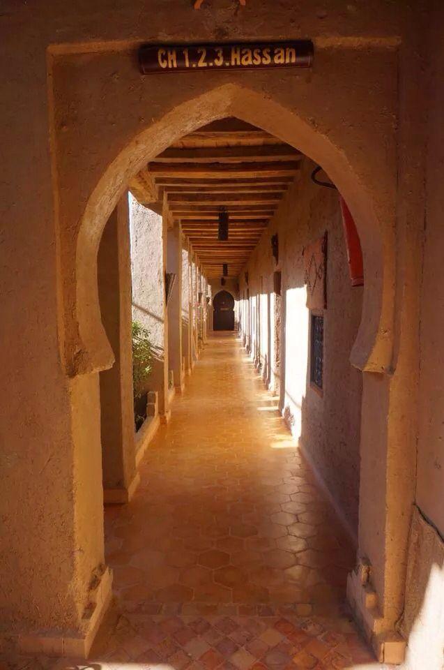 Perfect Kasba near the Sahara, kasba Enassra in Rissani, Marocco.