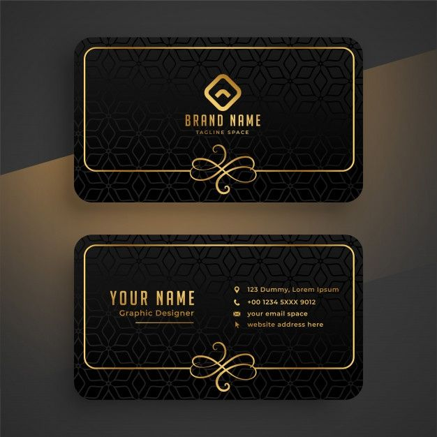 Download Black Dark And Golden Business Card Template For Free Modern Business Cards Free Business Card Templates Business Card Template