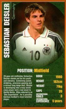 2004 Top Trumps European Football Stars #NNO29 Sebastian Deisler Front