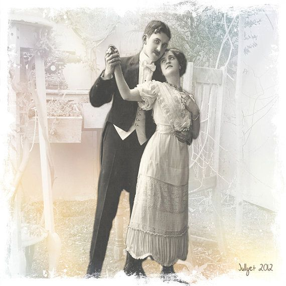 The woman if she in love Vintage photography Stretched by Jullyet, $85.00