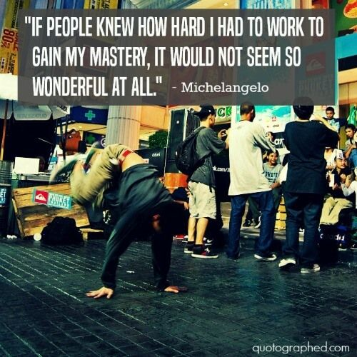 "Quotes about #Hardwork - ""If people knew how hard I had to work to gain my mastery, it wouldn't seem so wonderful at all."" - Michelangelo #Perseverance #Determination"