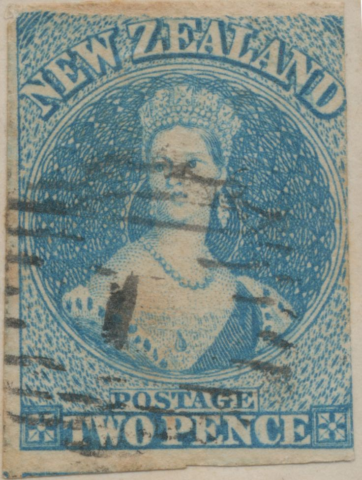 Stamps - Queen Victoria #323772 NZ Chalon Full Face Queen 2d blue Richardsons paper with clear underlap / overlap used on cover, part of top frame omitted, very obvious, 1860 cover, Major Marshall Paymaster 65 Regiment Taranaki, letter & contents inside, Maori War period, a unique cover ...