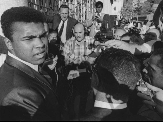 """Muhammad Ali is a is a racist and a black supremecist! Old documents detailing speechs by the moslem boxer-- found by the Judicial Watch-- recount at least one speech delivered at a Cleveland mosque, where Ali said the American flag """"represented death and destruction,"""" but the so-called """"Muslim flag"""" represents """"life and prosperity, justice for all black men."""""""