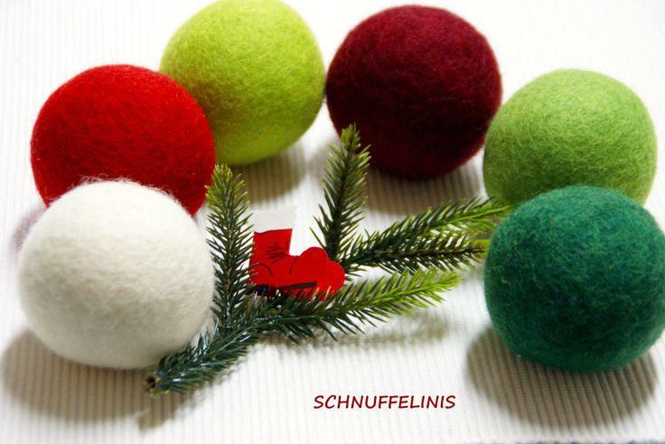 Filzkugeln XXL - 8 Set, 6cm, Waldorf Spielzeug, Eco freundliche, natürliche Filzbälle, Waldorf Filzbälle, 100% Merino Wolle,Trockner Bälle by Schnuffelinis on Etsy