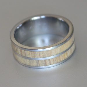 double inlay wood ring
