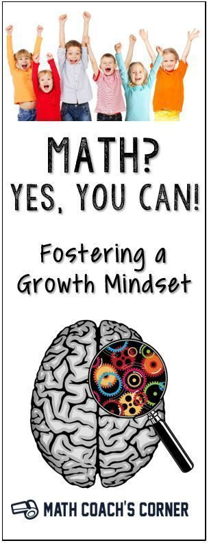 Math is badly in need of a mindset makeover! Learn more about growth mindset and how important it is for mathematical success. Links to great resources. #learnmath #Mathematics