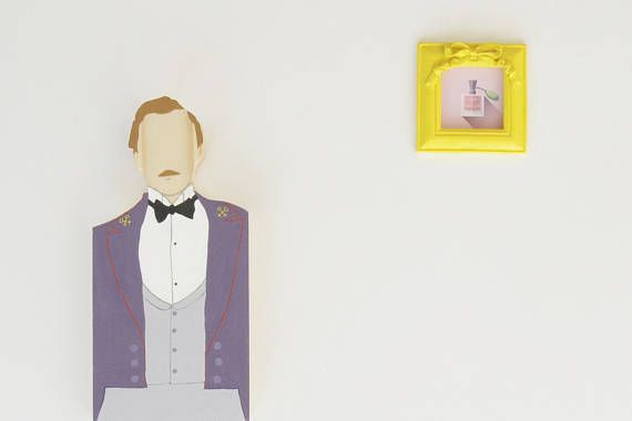 The Grand Budapest Hotel - Monsieur Gustave Wooden Figurine Shelf Decor Bookcase Decoration Home decor Wes Anderson Movie