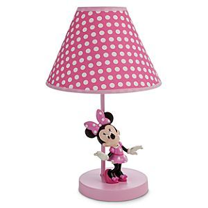 Disney Minnie Mouse Lamp for Baby | Disney StoreMinnie Mouse Lamp for Baby - Minnie Mouse lights up your sweetie's nursery under a cute polka-dotted lampshade. An eco-friendly RoHs Compliant light bulb helps makes sure that the future stays bright, too.