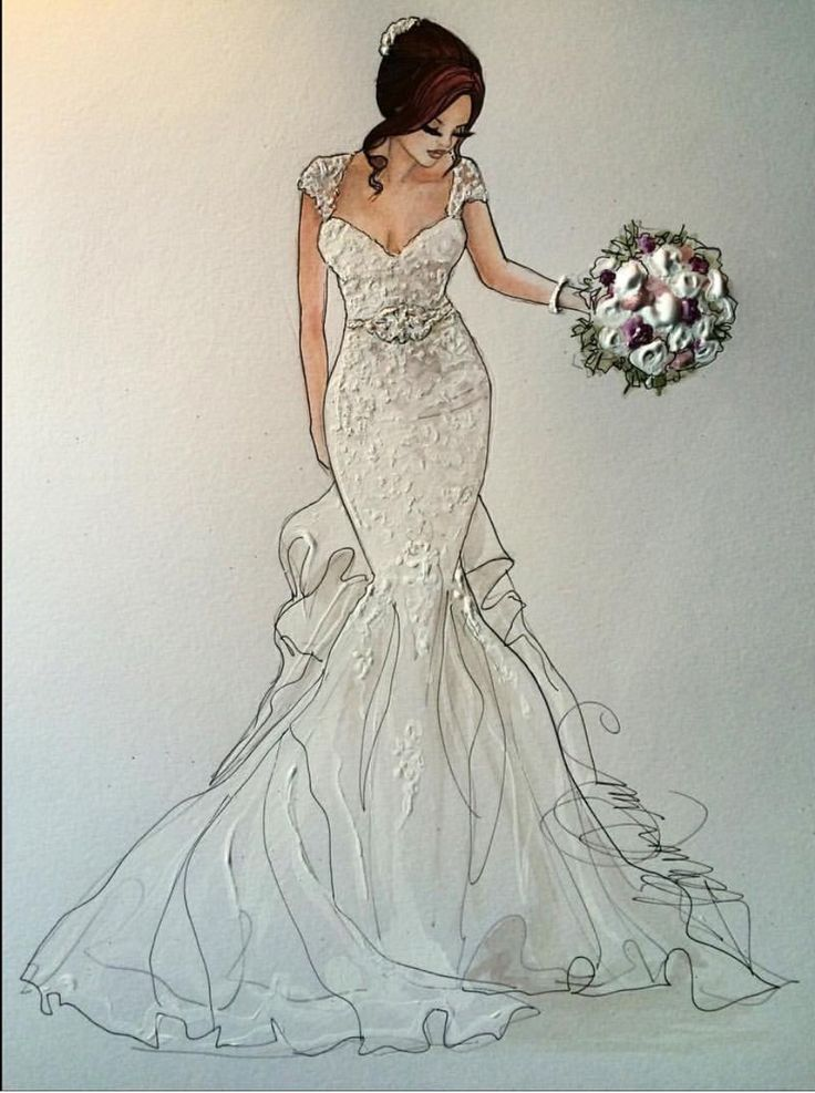 wedding dress drawings flower girl dresses