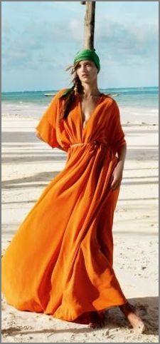 #orange #beachwear