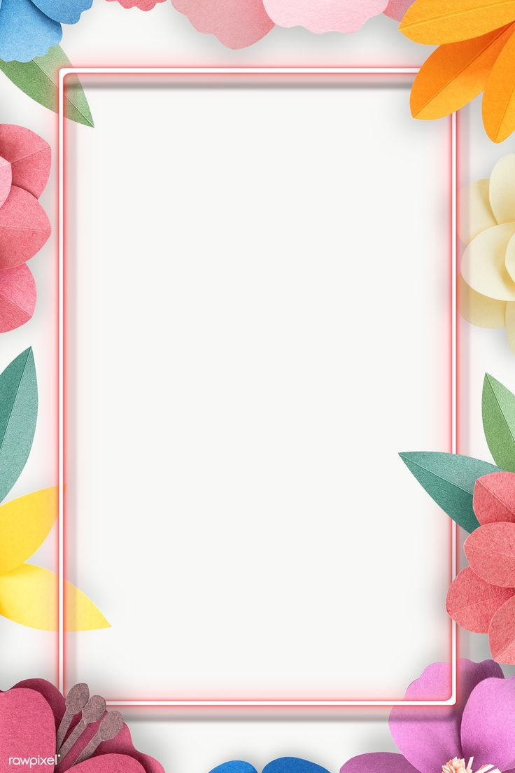 Colorful and tropical floral frame transparet png ...