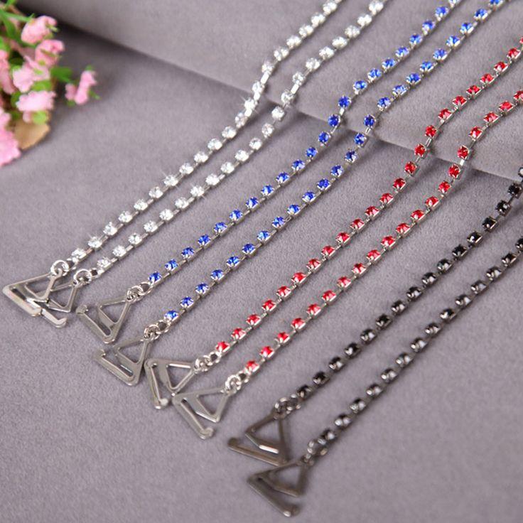 Singola fila di strass reggiseno catena di cristallo di cerimonia nuziale della spalla catene dei monili multi colorato