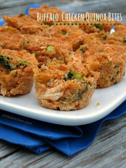 Buffalo Chicken Quinoa Bites | alidaskitchen.com #recipes # ...