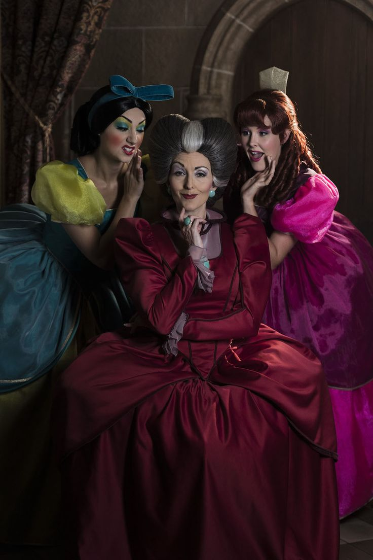 """What makes this trio so sinister? Click through to learn more about these evil-doers from """"Cinderella"""" – Lady Tremaine (Cinderella's stepmother), and her stepsisters Anastasia and Drizella."""