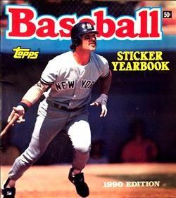 1990 Topps Baseball Sticker Yearbook