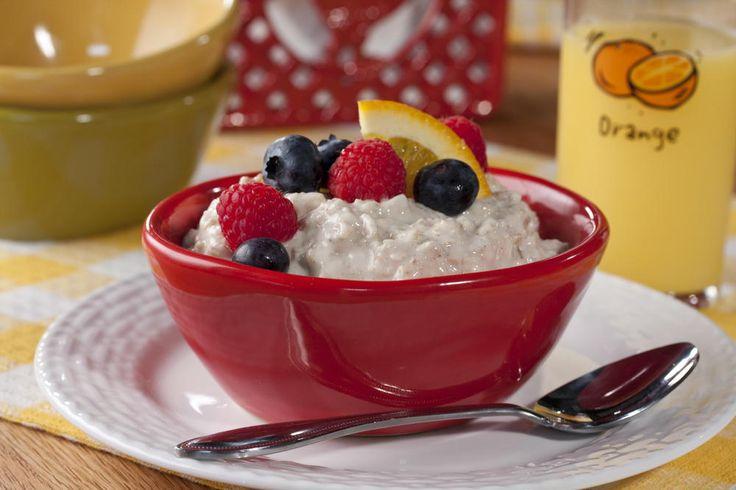 No-Cook Oatmeal Pudding-Grace Kelley's favorite Bkfst| MrFood.com
