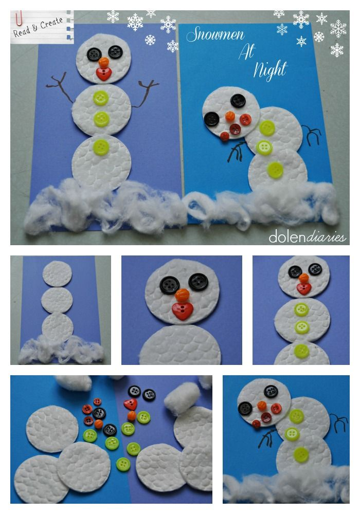 Snowman At Night Read & Create {Dolen Diaries for 733 Blog}