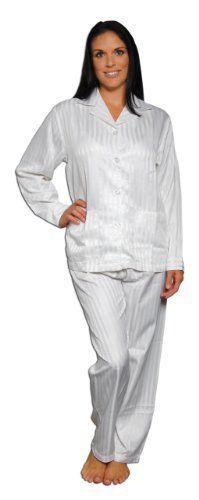 White Womens Satin Pajamas