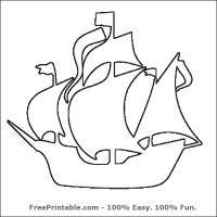 Pirate Ship Stencil. Repin and share! #free #printable