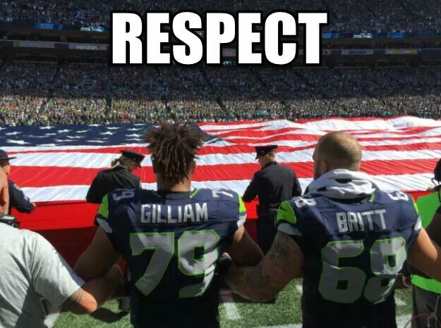 9/11/ 2016 Seahawks link arms