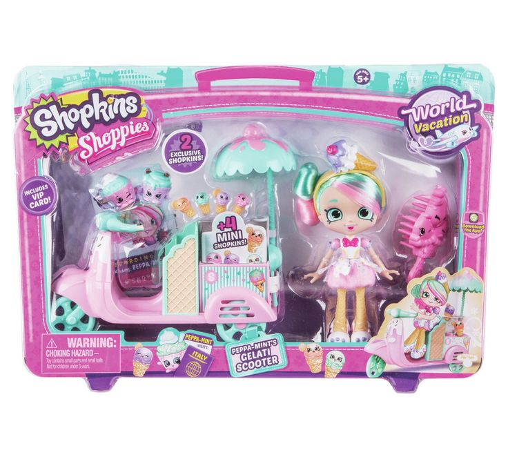 Buy Shopkins Shoppies Peppaminto Gelato Vespa Playset at Argos.co.uk - Your Online Shop for Dolls, Dolls and playsets, Toys.