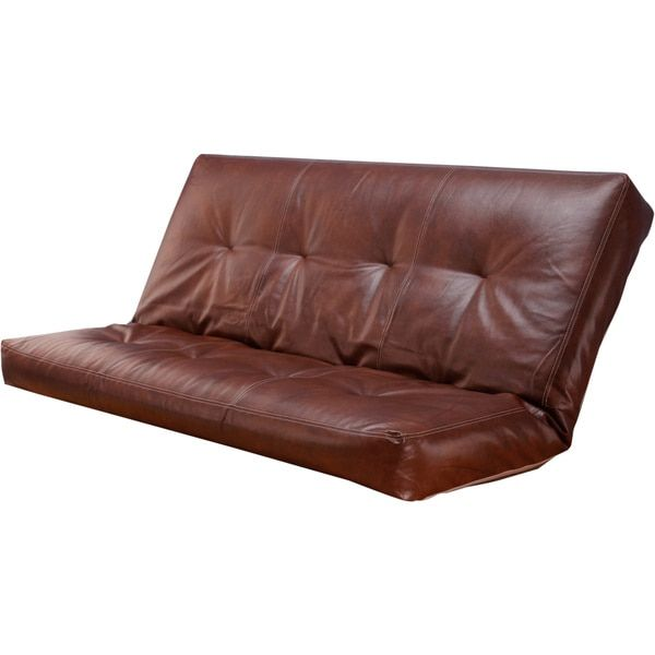 Somette Bonded Leather Saddle VertiCoil Spring 8-inch Thick Full-size Futon Mattress $264.00 Sharing for possible futon replacement in other tents.