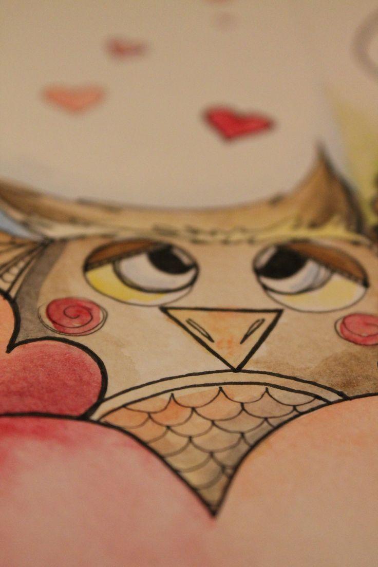 Illustrazione di Marta De Renzi owl in love