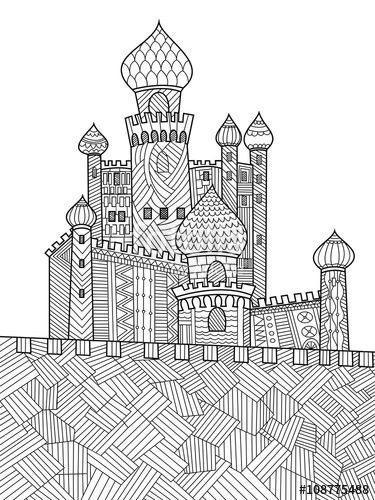 741 best images about Adult Colouring Buildings Houses
