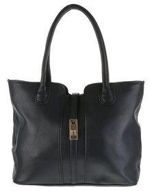 Blackcherry Bag Structured Tote Bag Black