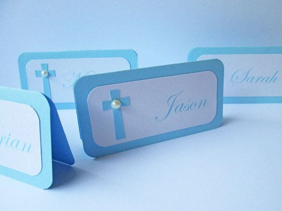 20 Personalized Baptism Place Cards Communion by DreamsByTheRiver
